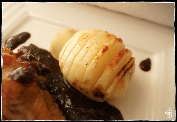 Manchons de canard confit à la thaïe, pommes de terre  à la suédoise