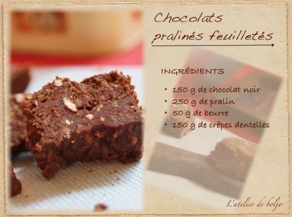 Chocolats pralinés feuilletés 2