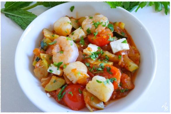 Saganaki ou fruits de mer à la sauce tomate épicée 4